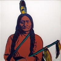 cowboys & indians: sitting bull- [ii.376] by andy warhol